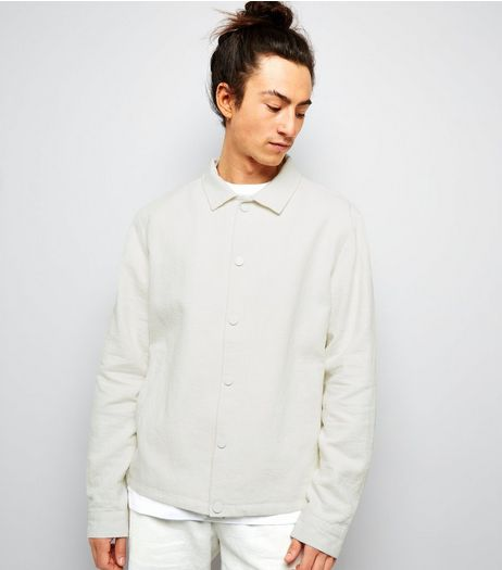 Cream Crepe Linen Tailored Coach Jacket | New Look