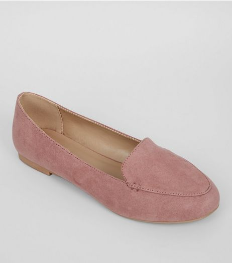 Pink Suedette Tab Slippers | New Look