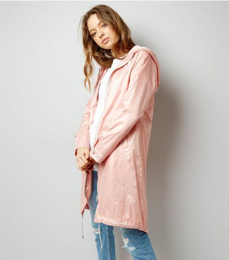 Pink Metallic Lightweight Parka | New Look