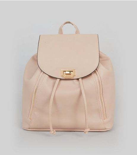 Pink Flip Lock Backpack | New Look