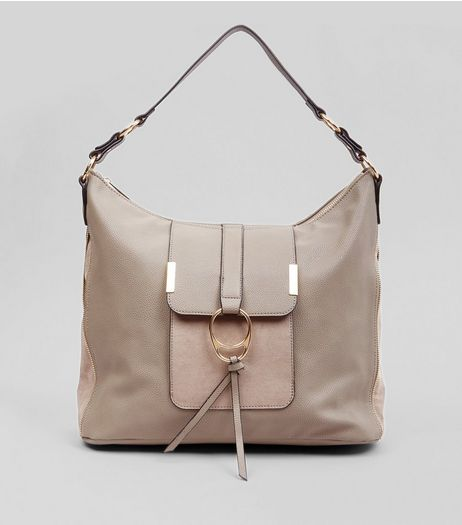 Grey Ring Front Tote Bag | New Look