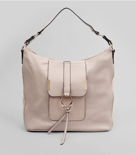 Nude Ring Front Tote Bag | New Look