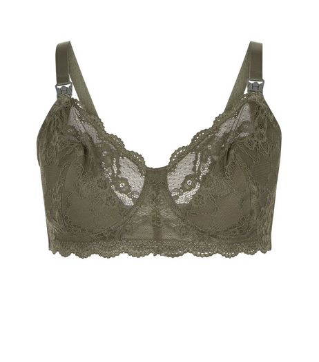 Maternity Khaki Lace Bralet | New Look