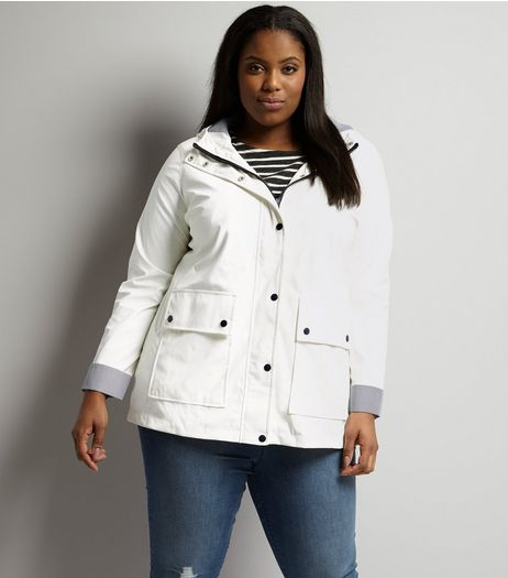 Curves White Matte Anorak | New Look
