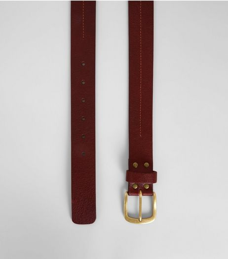 Brown Leather Stitch Detail Belt | New Look