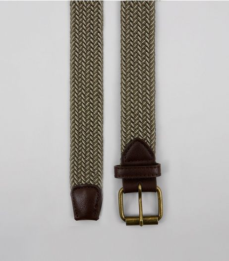 Khaki Elasticated Belt | New Look