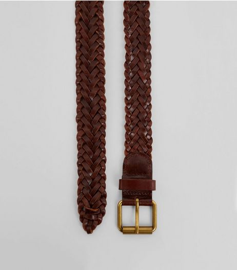 Brown Leather Plaited Belt | New Look