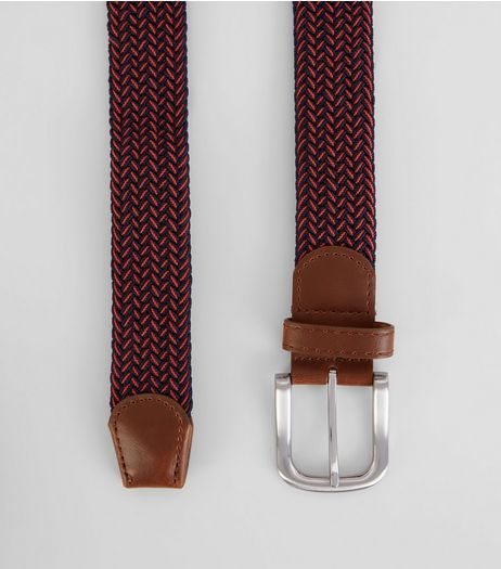 Red Elasticated Belt | New Look
