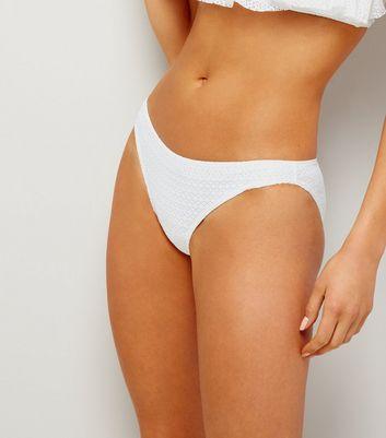 White Crochet Lace Bikini Bottoms