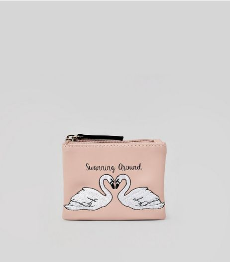 Pink Swanning Around Coin Purse | New Look