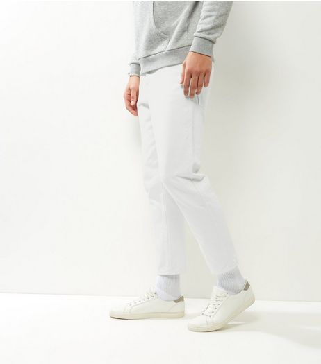 White Tapered Jeans | New Look