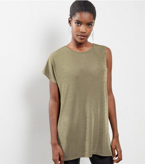 Khaki Single Sleeve Top  | New Look