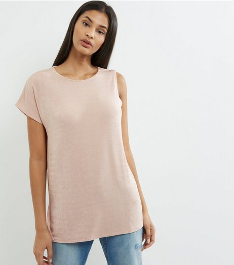 Shell Pink Single Sleeve Top  | New Look