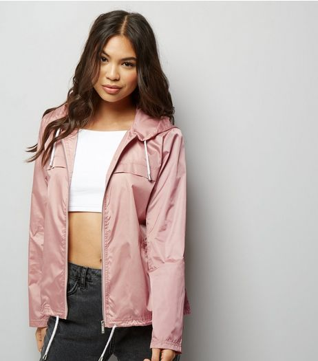 Pink Zip Front Fold Away Anorak  | New Look