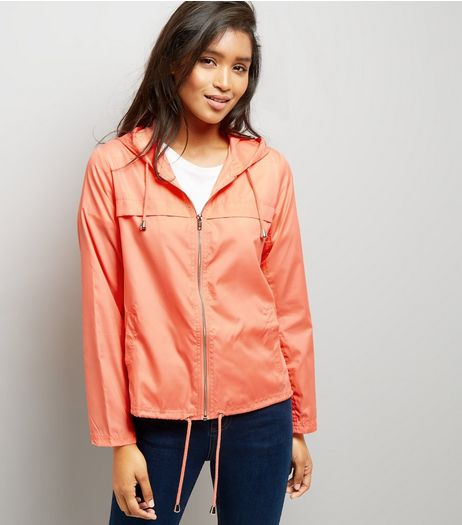 Orange Hooded Fold Away Anorak | New Look