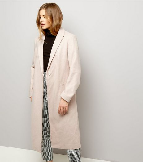 Shell Pink Midi Coat | New Look