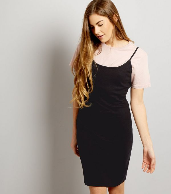 Black Strappy Bodycon Dress