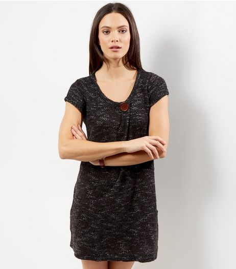 Apricot Dark Grey Knitted Tunic | New Look