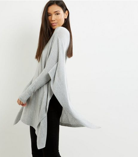 Apricot Grey Split Side Jumper | New Look