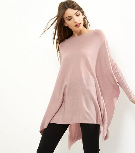 Apricot Shell Pink Split Side Jumper  | New Look