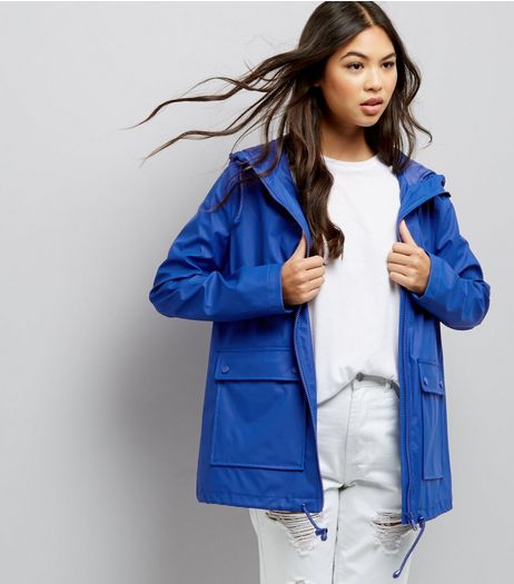 Blue Matte Anorak  | New Look