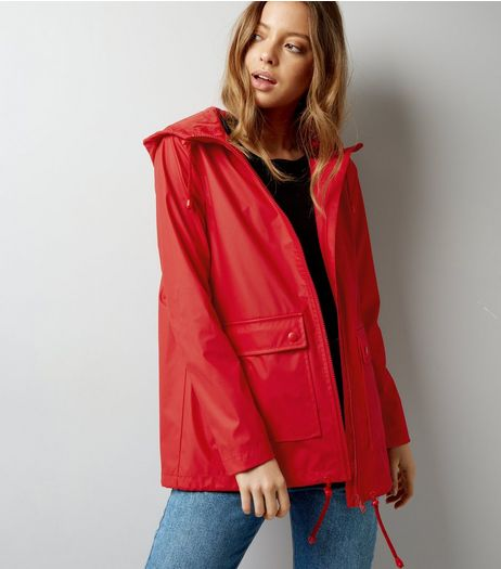 Red Matte Anorak | New Look
