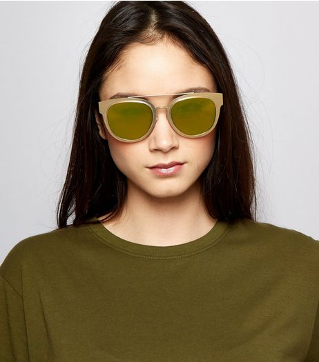 Brown Tinted Bar Front Sunglasses  | New Look