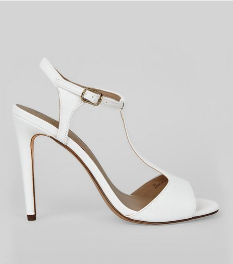White T Bar Heels | New Look