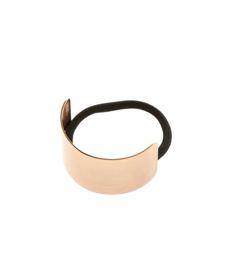 Rose Gold Curved Plate Hairband | New Look