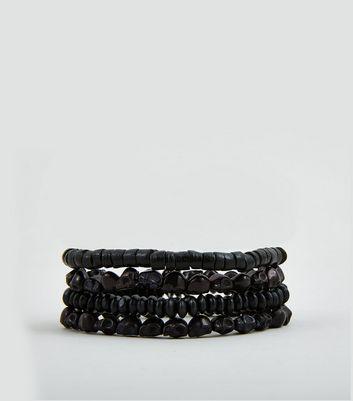 4 Pack Skull Bead Bracelets