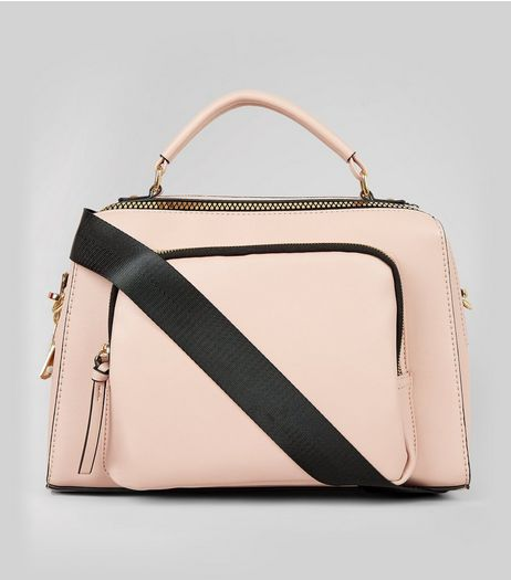 Pink Chunky Zip Luggage Bag | New Look