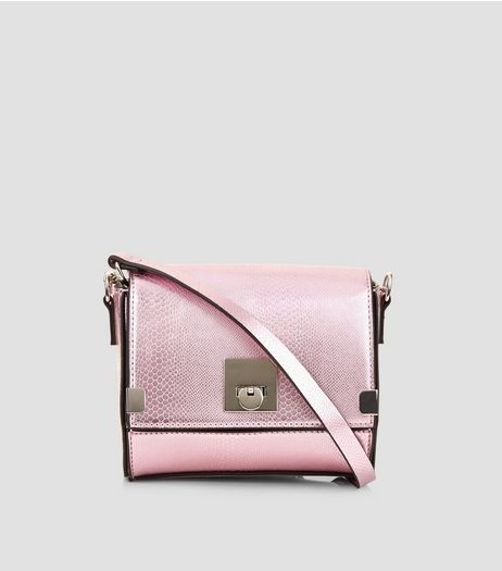 Pink Metallic Cross Body Box Bag | New Look
