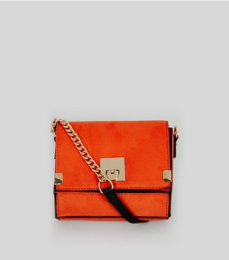 Orange Textured Mini Cross Body Bag | New Look