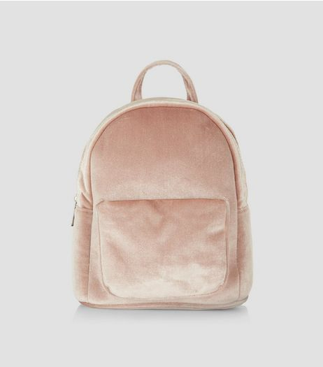 Pink Velvet Mini Backpack | New Look