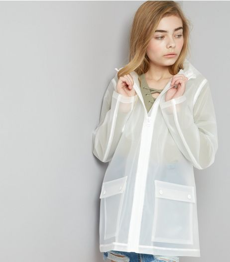 Teens White Hooded Anorak  | New Look