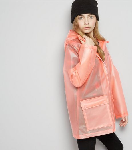 Teens Pink Hooded Anorak | New Look