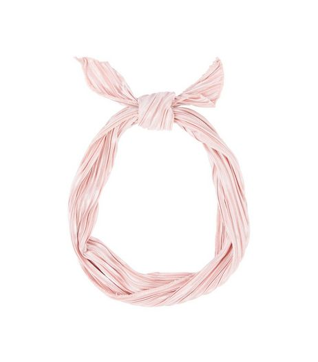 Pink Pleated Neck Tie | New Look