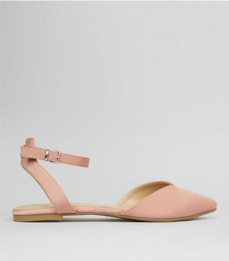 Pink Sateen Pointed Pumps | New Look