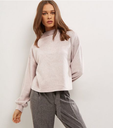 Shell Pink Balloon Sleeve Jumpers | New Look