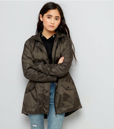 Teens Khaki Lightweight Parka  | New Look