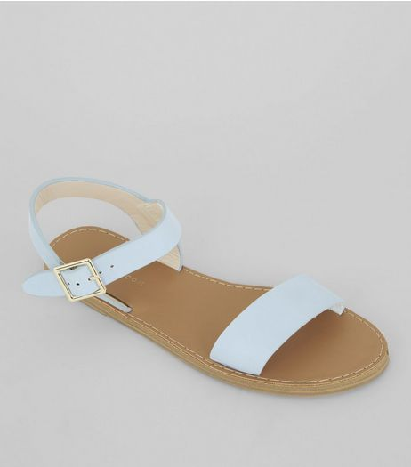 Pale Blue Sandals | New Look