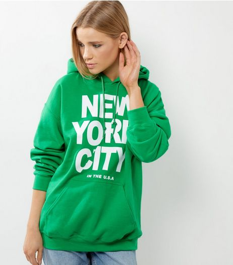 Green New York City Hoodie | New Look