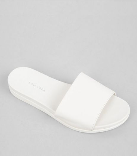 White Sports Mules | New Look
