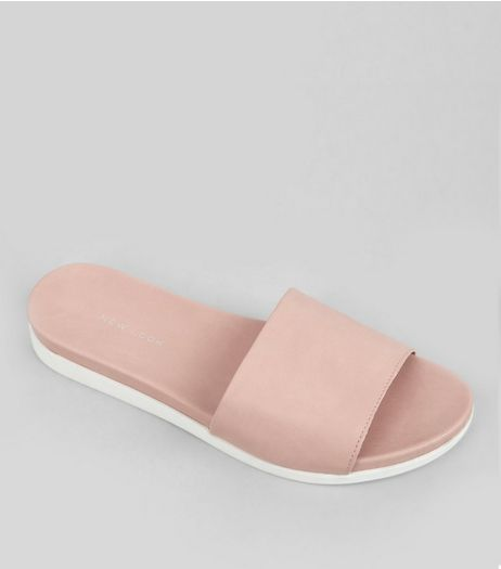 Pink Sports Mules | New Look