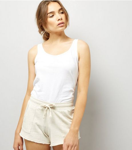 Cream Tie Waist Shorts | New Look