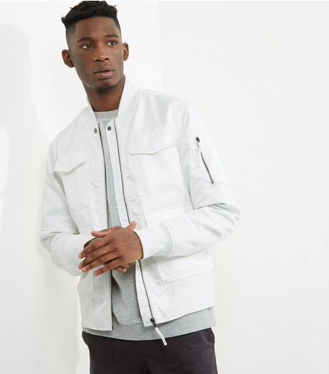 Stone Military Bomber Jacket  | New Look