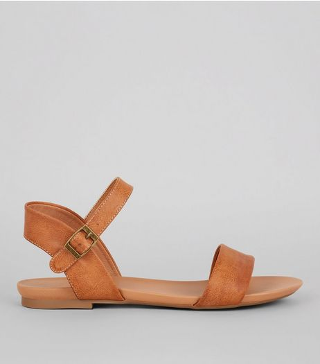 Tan Ankle Strap Sandals | New Look