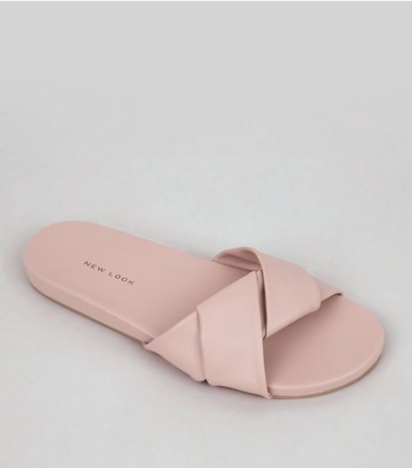 Pink Twist Strap Mules | New Look