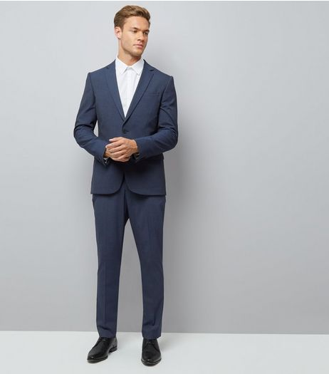 Navy Suit Trousers | New Look