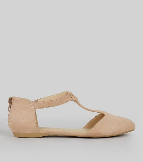 Teens Pink Suedette Knot Front Pumps | New Look